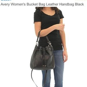 Coach Avery leather drawstring bag f27003